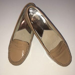 Michael Kors patent penny loafers